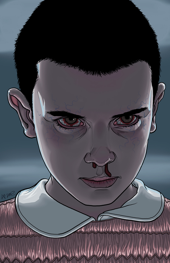 Digital doodle stranger things 39 eleven false positive for Eleven tattoo stranger things